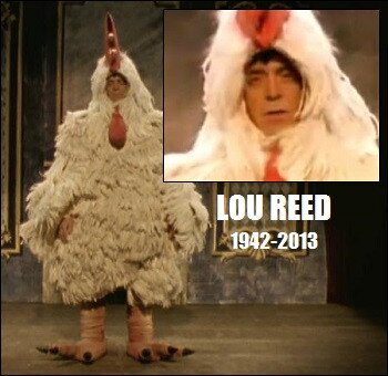 lou reed in bird suit