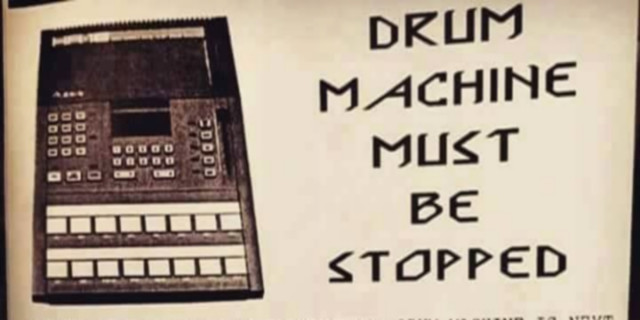 drum machine must be stopped header