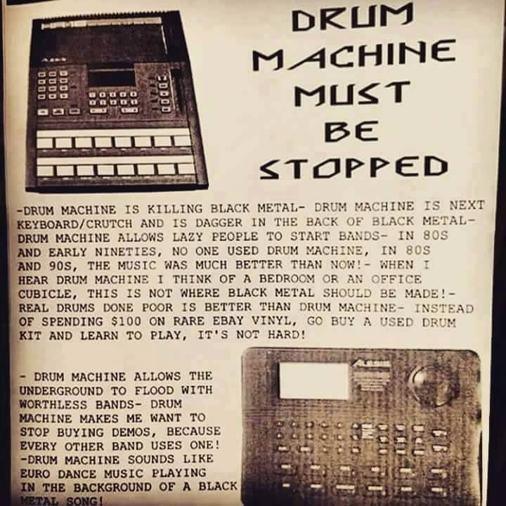 drum machine must be stopped